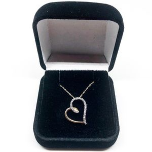 10k Yellow Gold Authentic Diamond Heart Necklace
